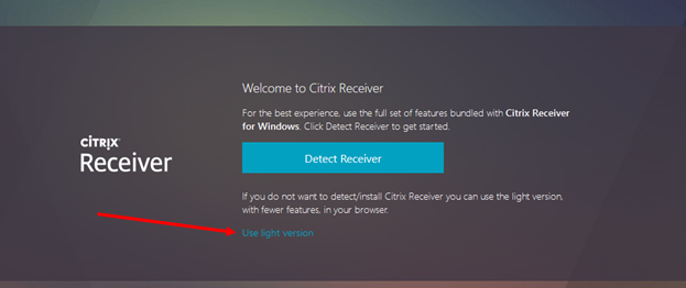 What is citrix receiver