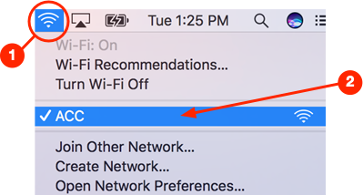 macOS wifi connection
