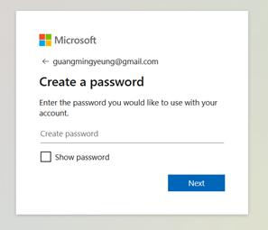 MS account password
