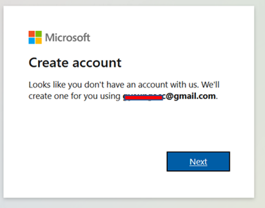 MS account creation
