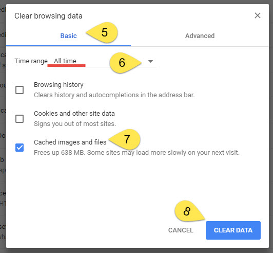 how to clear cache and cookies in google chrome happyfox