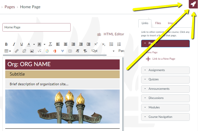 How To Refresh Your Home Page S Module List Design Tools Fsu Canvas Support Center