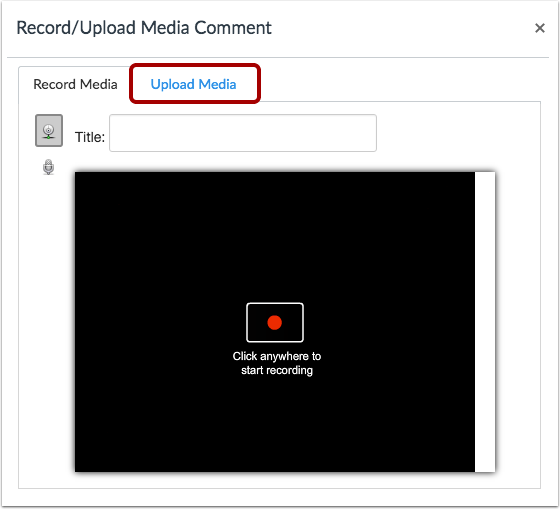 How To Record And Upload Audio Video Without Kaltura Fsu Canvas