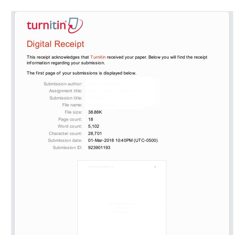 Students: How to download a Turnitin digital receipt - FSU ...  Turnitin