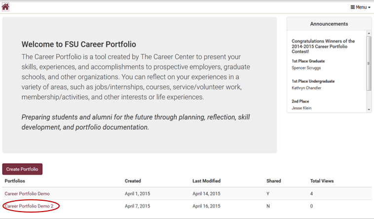 Students: How to submit to a Career Portfolio Canvas assignment