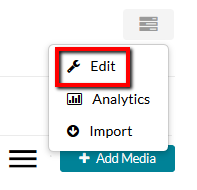 Edit button for course Media Gallery