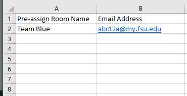 Example of CSV file for Breakout Room assignments.