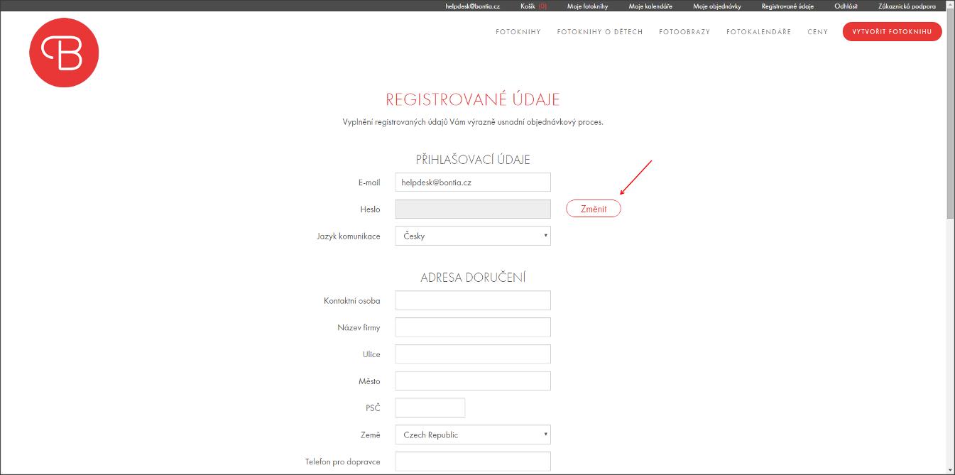 Jak změnit heslo