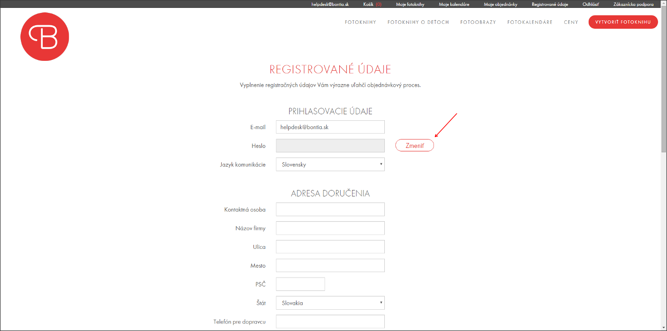 Ako zmeniť heslo