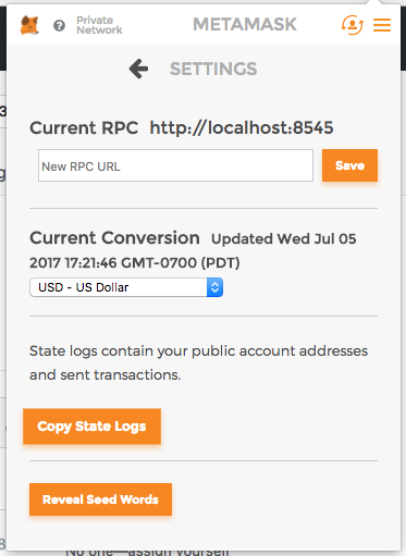 Copy State Logs Button