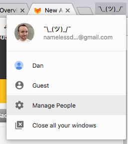 Chrome user profiles