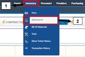 Inventory >> Stockrooms