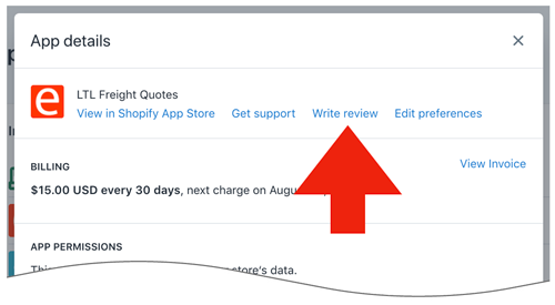 How to write an app review in Shopify - Eniture Technology