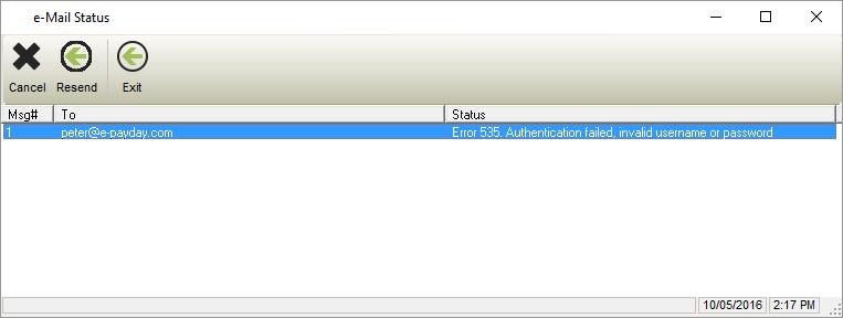 Error 535: Authentication failed, invalid username or