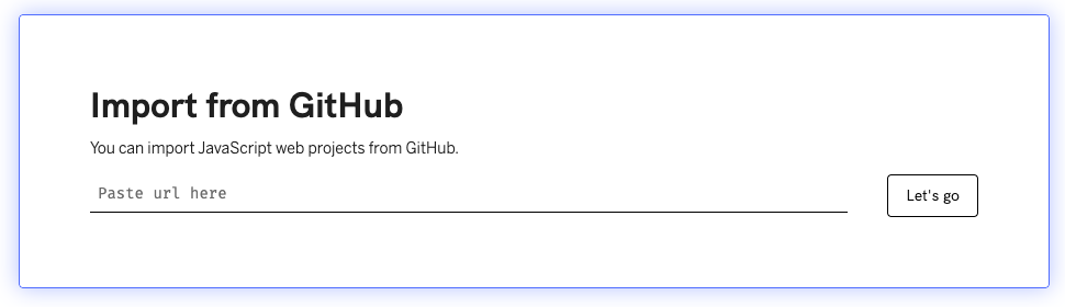 import from github