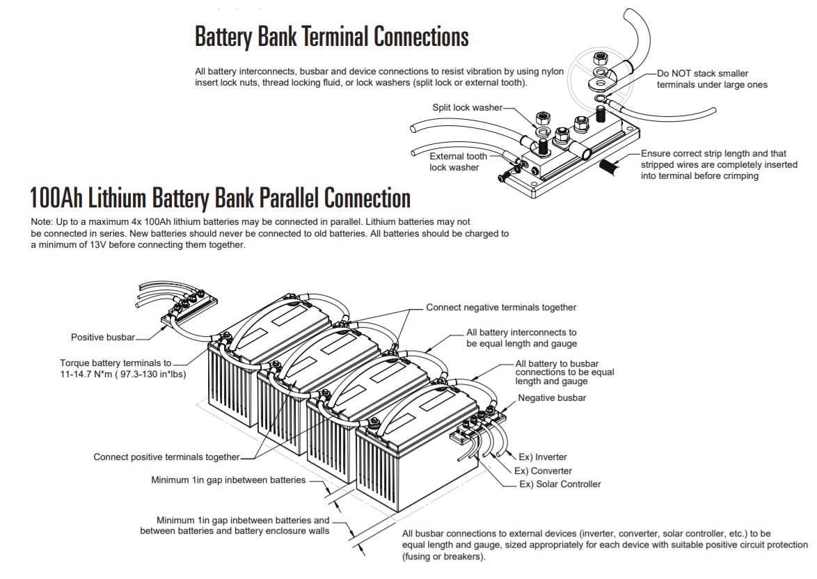 Lithium Batteries (LiFePO4 ): Wiring Diagram - Go Power! - powered by  HappyFox | Battery Terminal Wiring Diagram |  | Go Power! Support