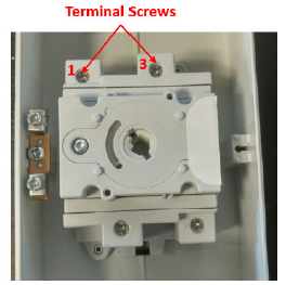 Figure 2 - terminal screw illustration