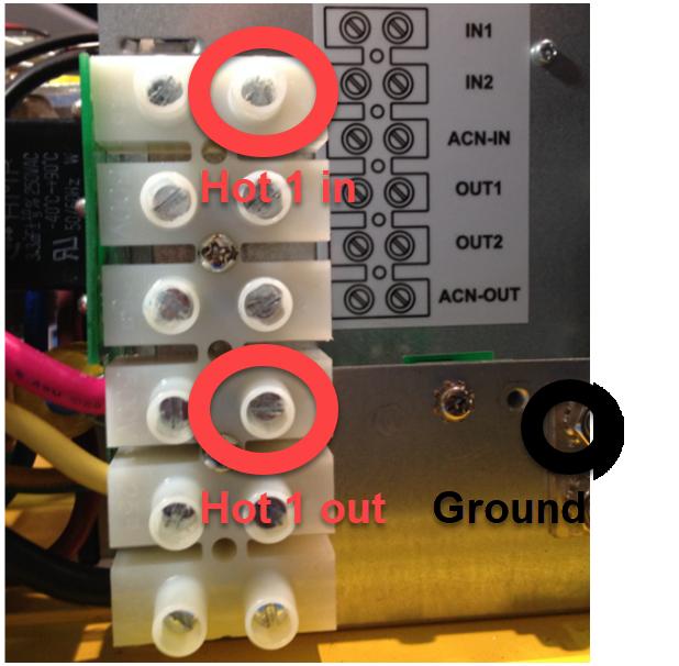 Figure 2- Hot One Input, Output & Ground