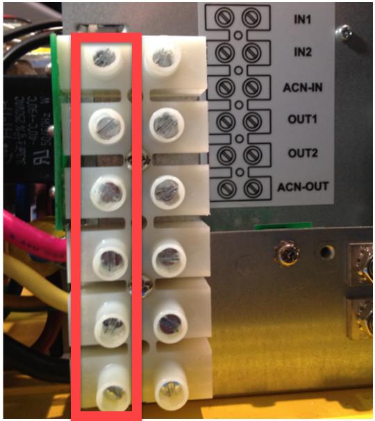 Figure 1 - Terminal Block Screws