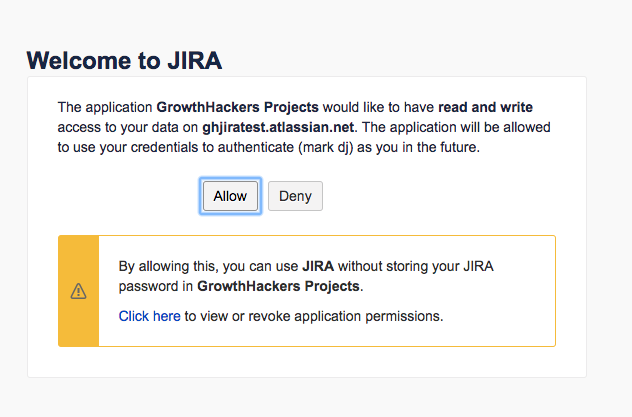 jira integration - jira permissions