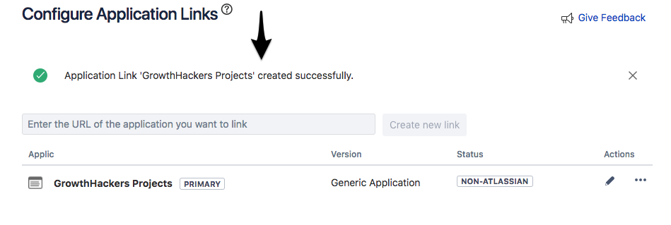 jira configure application links
