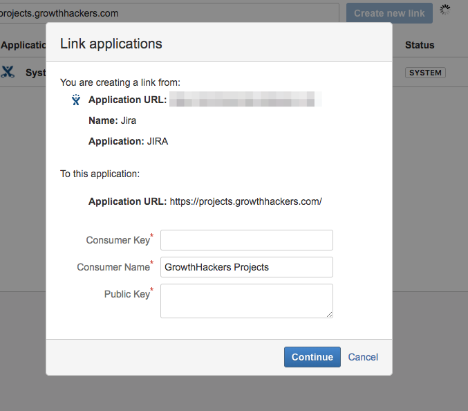 jira link applications