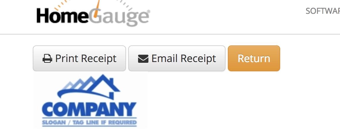Email Receipt Button