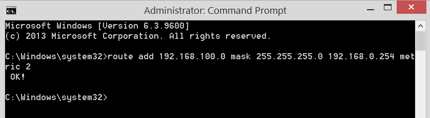Example Command Prompt