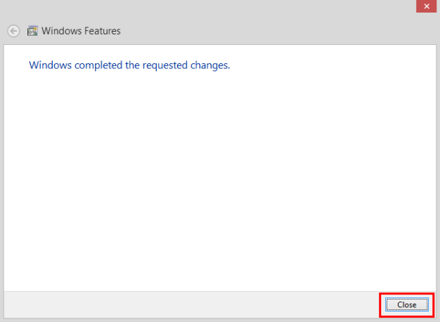 Once changes are completed, click on 'Close'