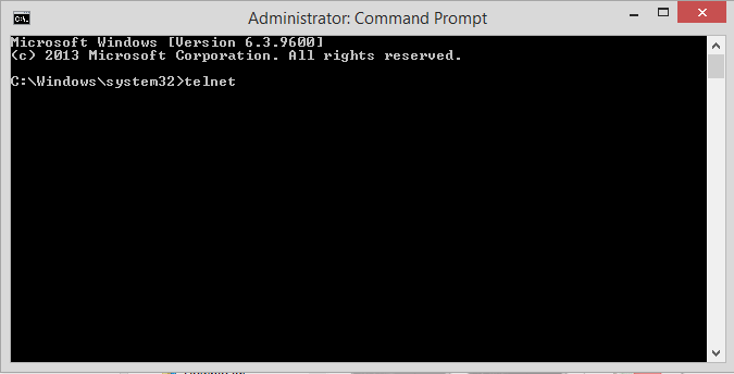 Open a Command Prompt, type 'telnet' then press Enter