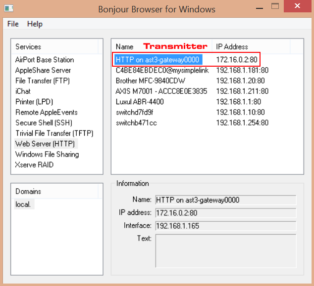 Bonjour Browser - network discovery tool - Just Add Power