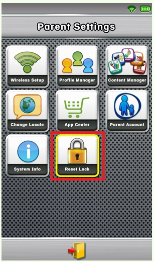 Changing the Parent Lock code on LeapPad - leapfrog