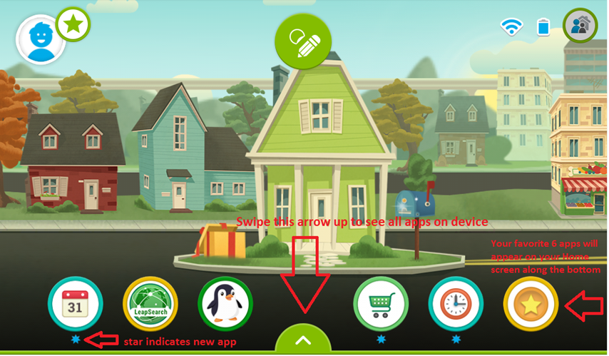 Navigating the LeapFrog Epic Kid's interface - leapfrog
