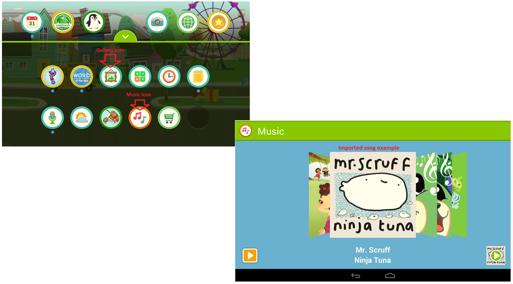 How do I transfer files from my LeapFrog Epic tablet to a