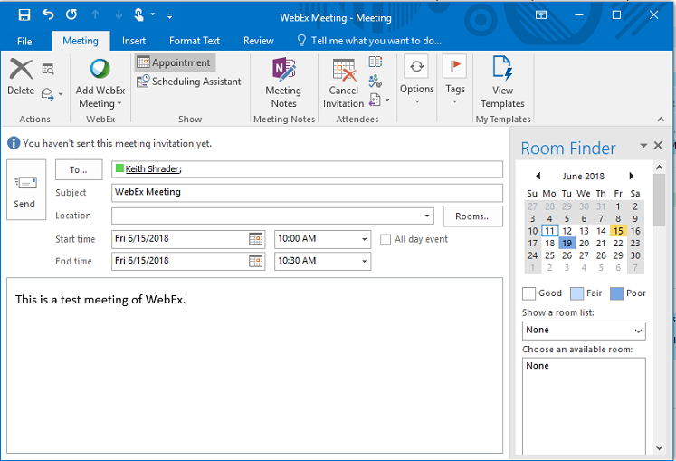 How To Schedule A Webex Meeting From Outlook Mmc Corp Helpdesk