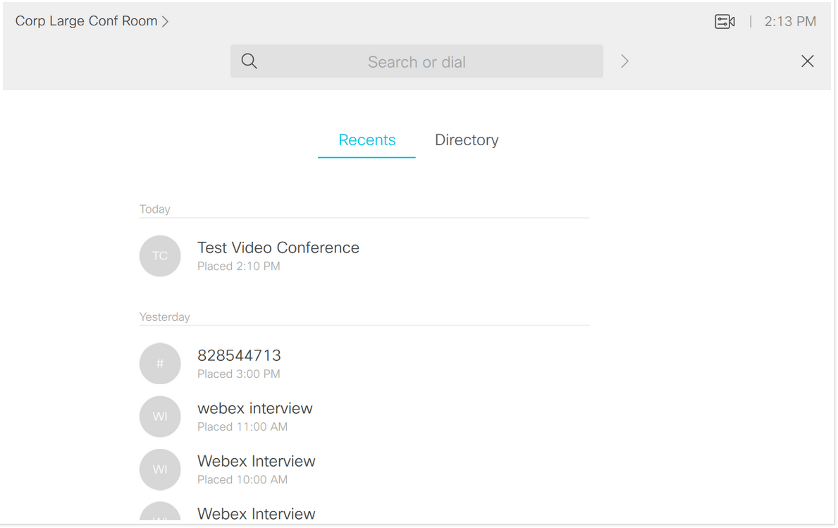 How to manually dial into a Webex from the conference room