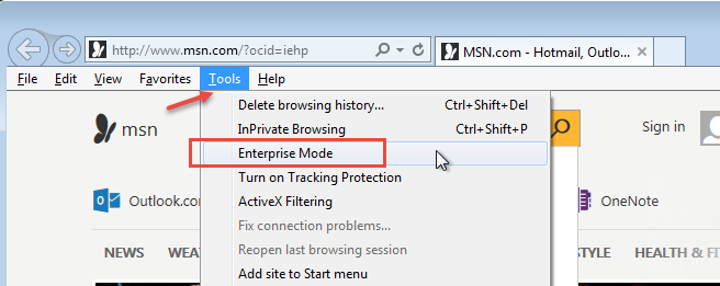 30: Internet Explorer: I'm trying to use IE 11's Enterprise
