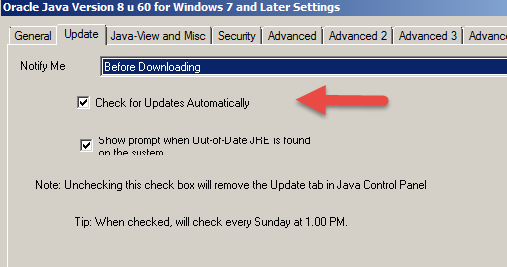 43: Java: How to disable User Account Control prompt for Java Auto