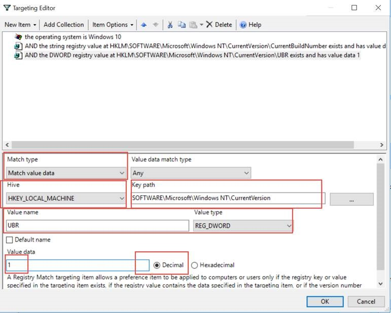 04: How can I use Item Level Targeting to specify a specific Windows