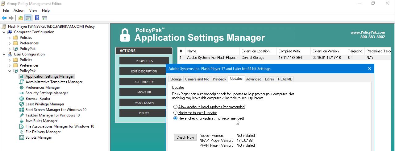 PolicyPak for Adobe Flash Player - PolicyPak