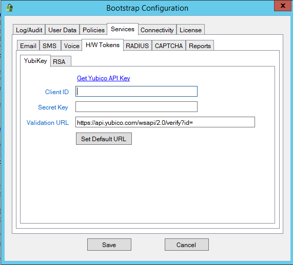 Bootstrap Settings for Yubikey support