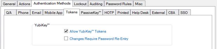 Yubikey Security Policy Config