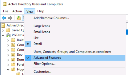 AD Advanced Features