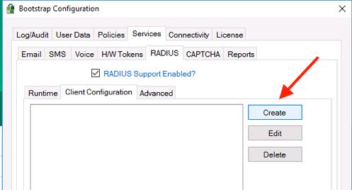 Create Client Config RADIUS