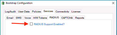 Enable RADIUS Support