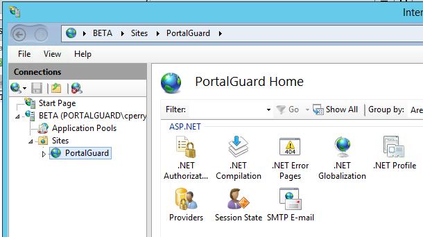 PortalGuard IIS Site