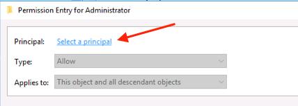 AD Select A Principal