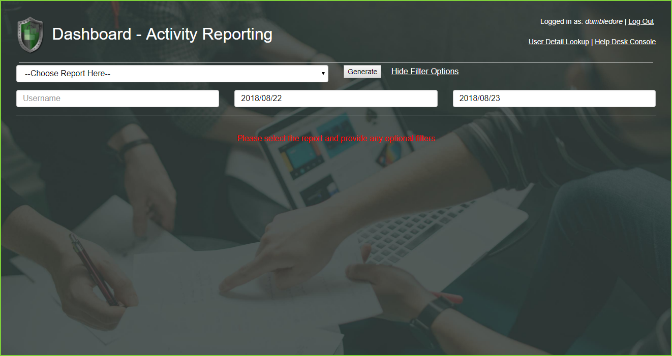 PortalGuard Activity Reporting