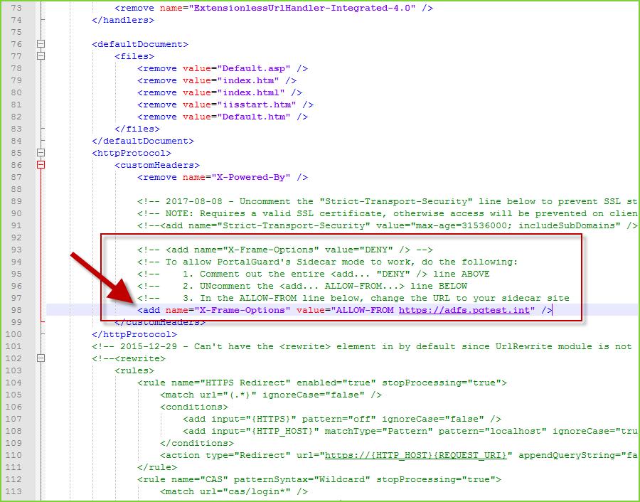 Sidecar Web_Config Edits