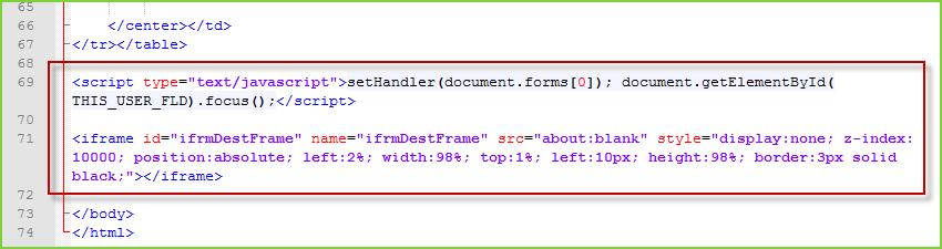 Sidecar Integration Script and HTML Edits
